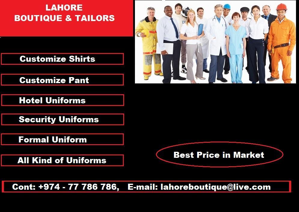 Uniforms Tailoring Facility | Qatar Living