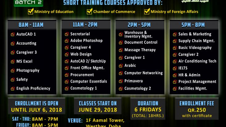 short training courses for filipinos qatar living