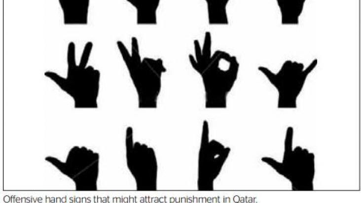 Offensive Hand Signs That Might Attract Punishment In Qatar Qatar