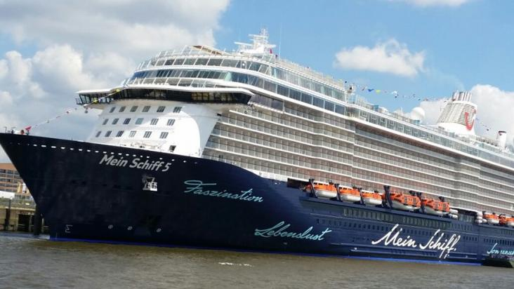 Deck Mega Cruise Ship Mein Schiff Docks At Doha Port Qatar - Living and working on a cruise ship