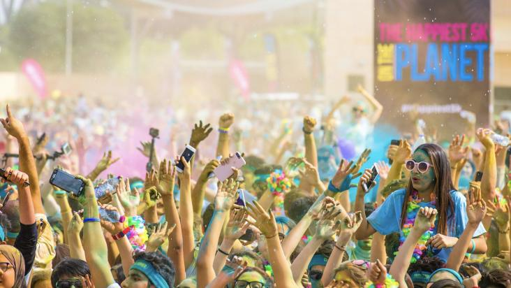 The countdown to the color run presented by sahtak awalan your the countdown to the color run presented by sahtak awalan your health first continues qatar living publicscrutiny Images