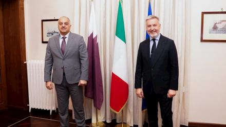 Qatar, Italy defense ministers review bilateral relations
