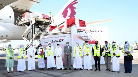Qatar Airways Group sends almost 100 tonnes of essential supplies from Doha to Khartoum