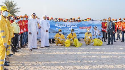 Talabat and MME join World Cleanup Day at Al  Wakrah Beach