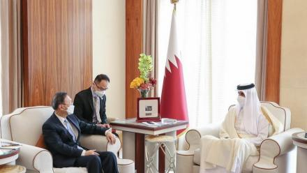 HH the Amir receives message from Chinese president