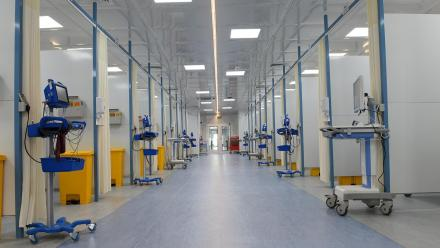 COVID-19 field hospital set up at Hazm Mebaireek General Hospital