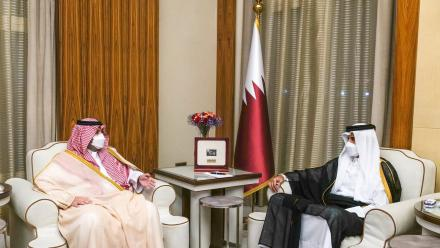 HH the Amir meets Minister of State and Member of Saudi Cabinet