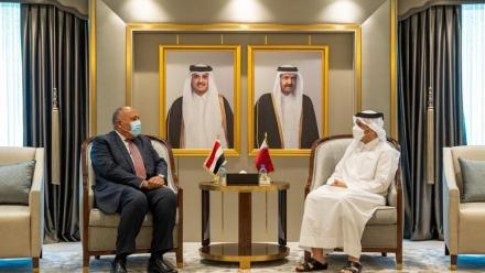 Qatar's Foreign Minister meets Egyptian counterpart