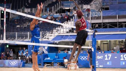 Qatar Beach Volleyball duo score second win, qualify for knockout stages in Tokyo