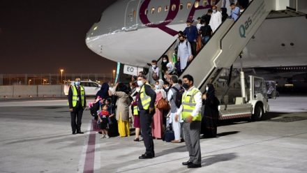 Over 100 passengers from Afghanistan arrive in Qatar