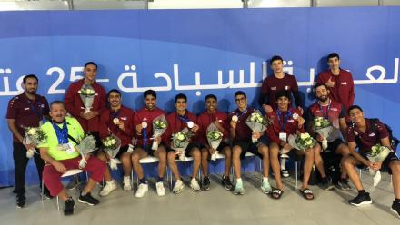 Qatar's national swimming team clinches 9 medals at Arab championship