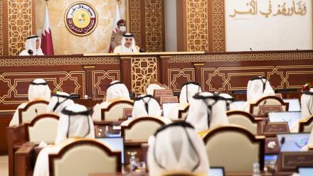 HH the Amir inaugurates Shura Council ordinary session