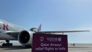 Qatar Airways Cargo convoy departs to India with essential COVID-19 relief aid