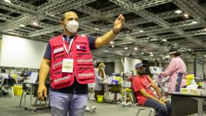 SC volunteers support Qatar Charity and vaccination roll-out