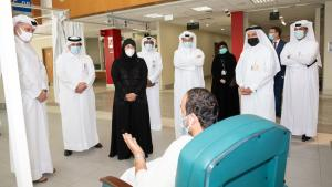Health Minister visits Hazm Mebaireek General Hospital as facility recommences normal services
