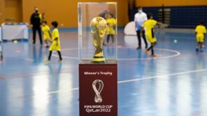 Youth in Qatar inspired by FIFA World Cup™ Winner's Trophy