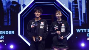 Togami and Hayata crowned Mixed Doubles champions at WTT Star Contender Doha 2021