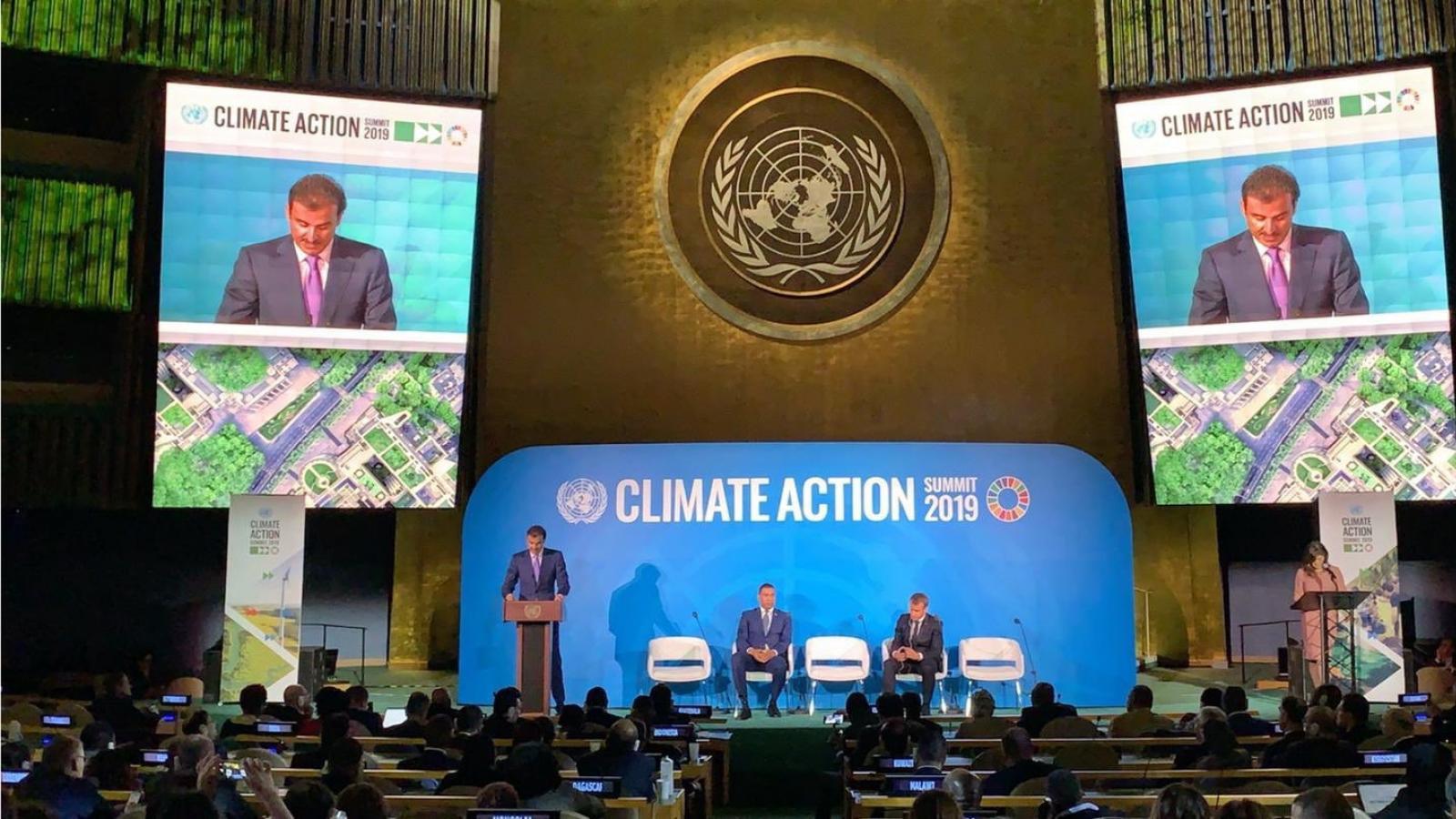 HH the Amir pledges $100 million to tackle climate change