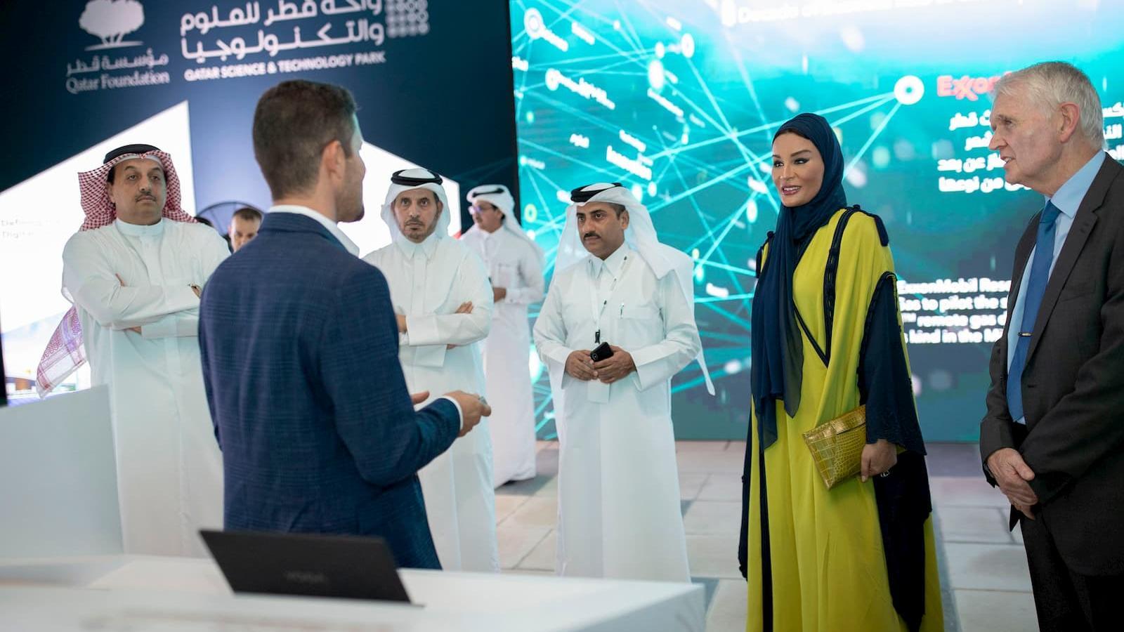 HH Sheikha Moza attends QSTP's 10th anniversary celebration