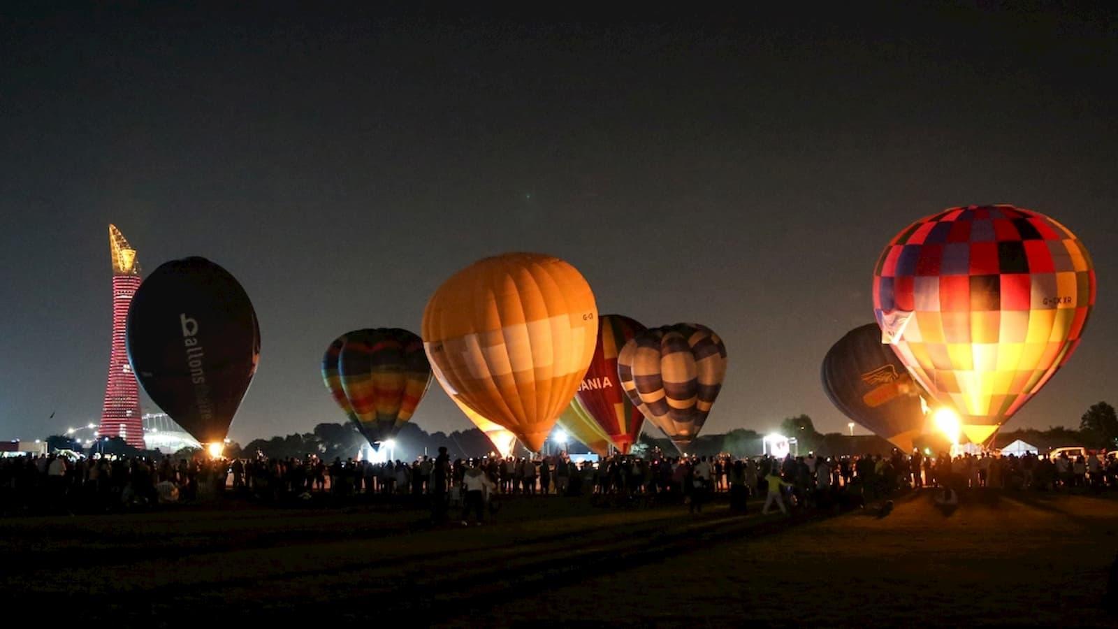 Qatar's first hot-air balloon gets underway in Aspire Park
