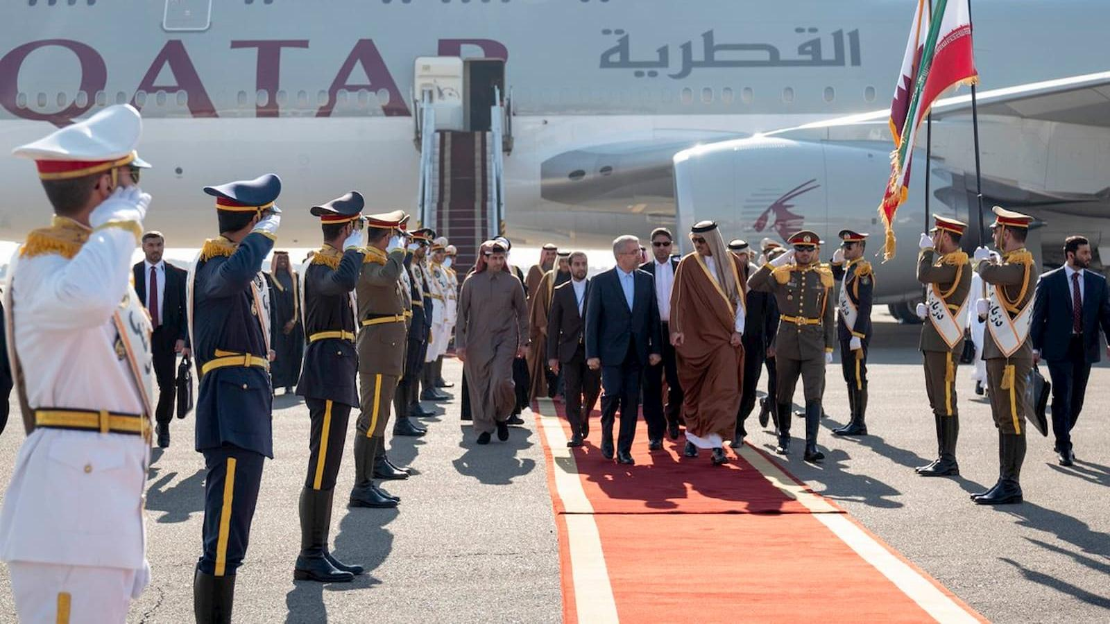 HH the Amir arrives in Iran