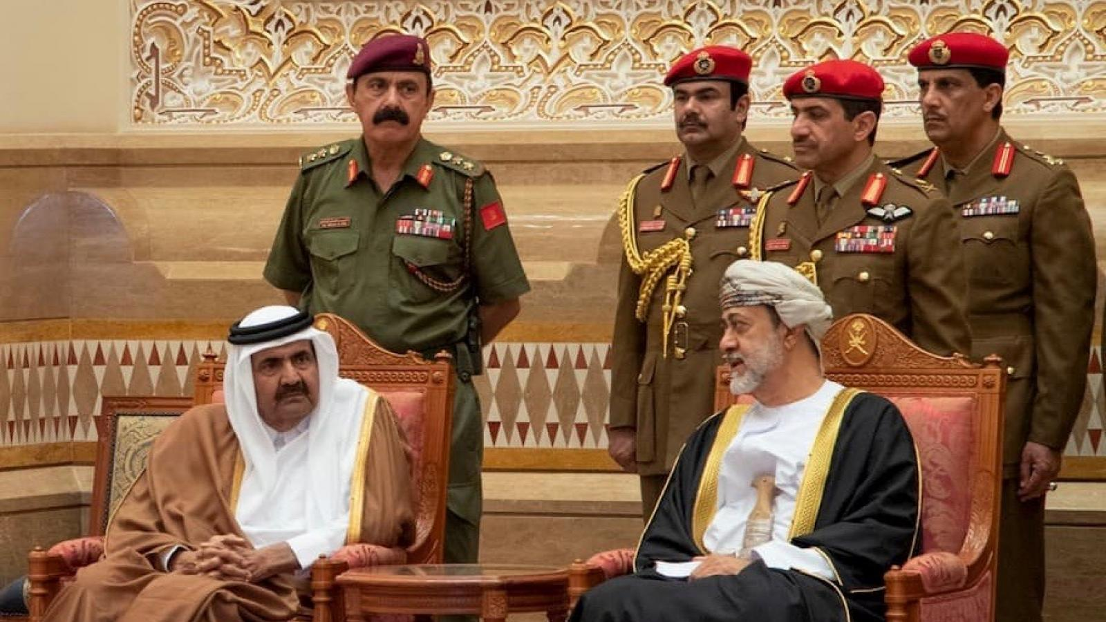 HH the Father Amir offers condolences to Sultan of Oman