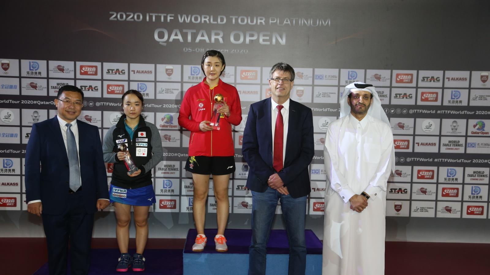 China's Zhendong and Meng triumph at 2020 ITTF World Tour Platinum Qatar Open