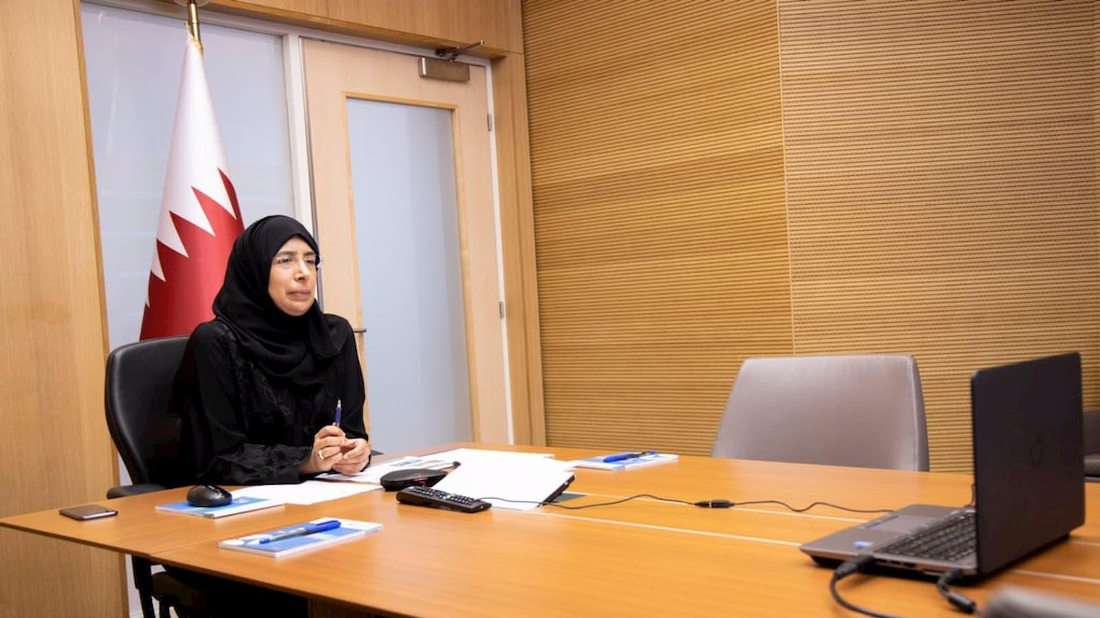Minister of Public Health presents Qatar's strategy to curb spread of COVID-19 to WHO
