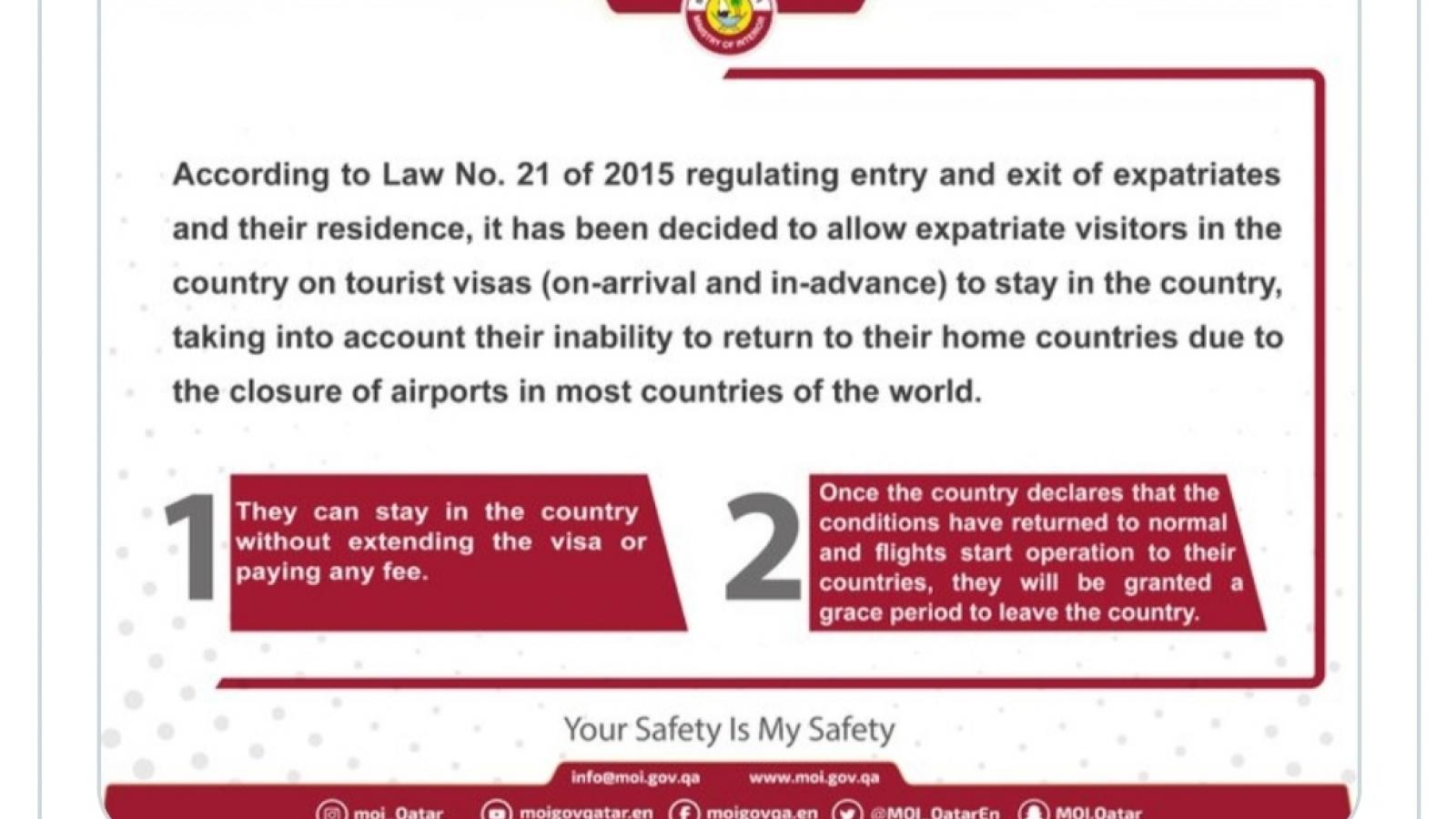 Expired tourist visa ( visa on arrival) in covid19