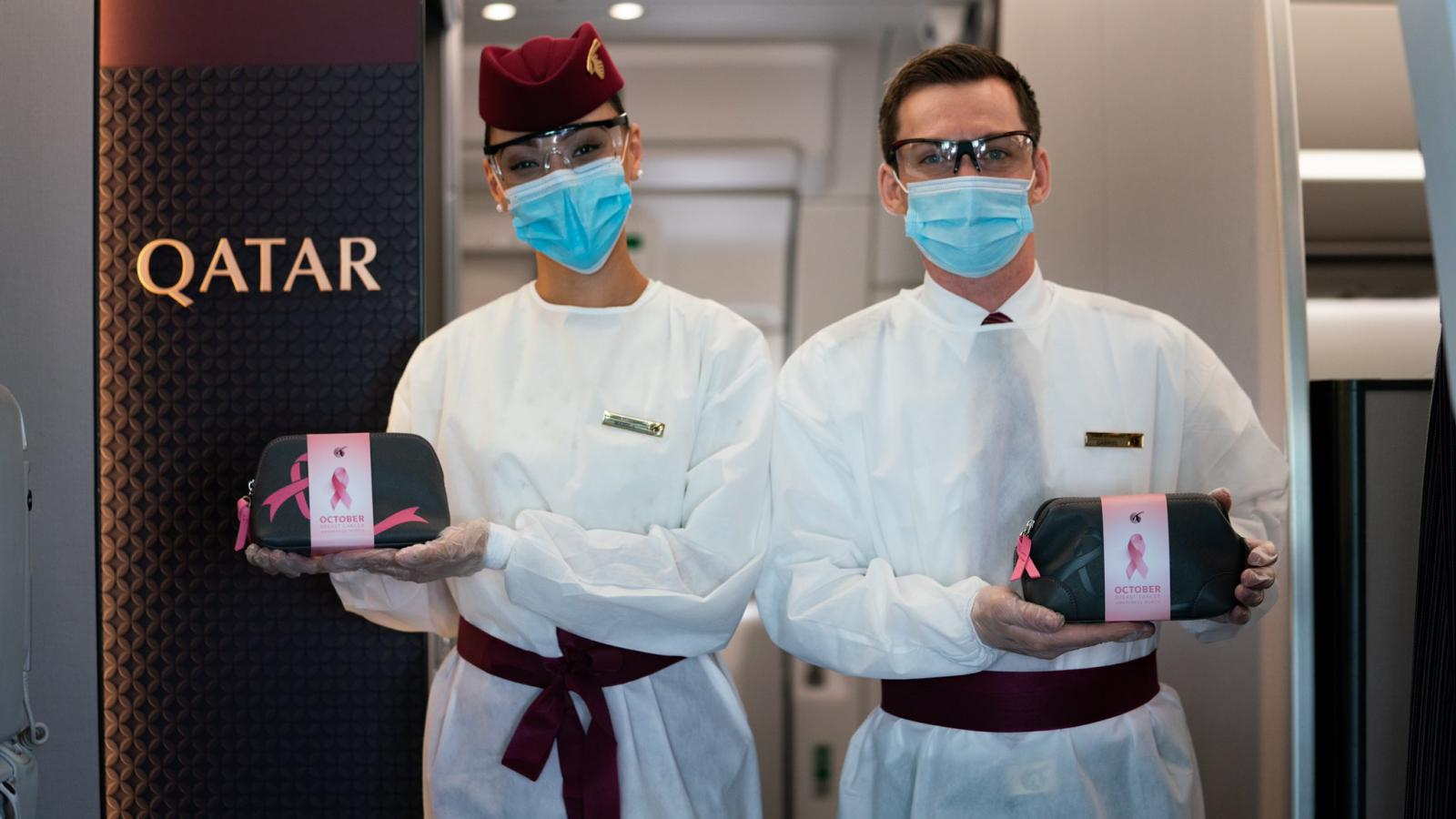 Qatar Airways marks Breast Cancer Awareness month with exclusive amenity kits and 'Think Pink' onboard menu