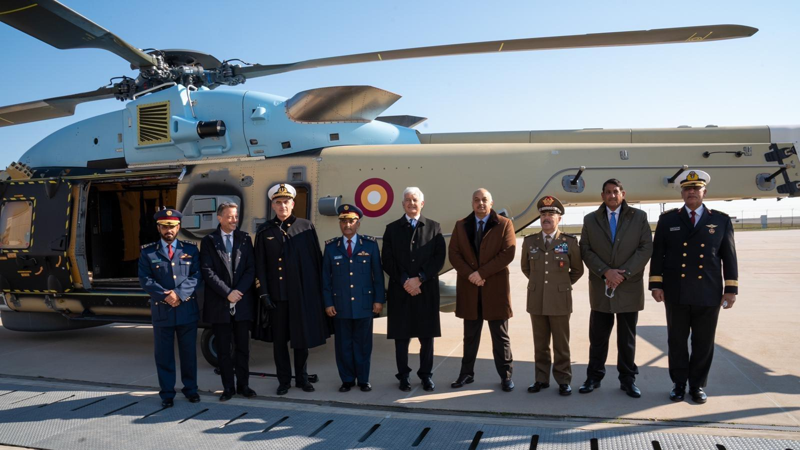 Qatar's Defense Minister inaugurates NH90 helicopter in Italy