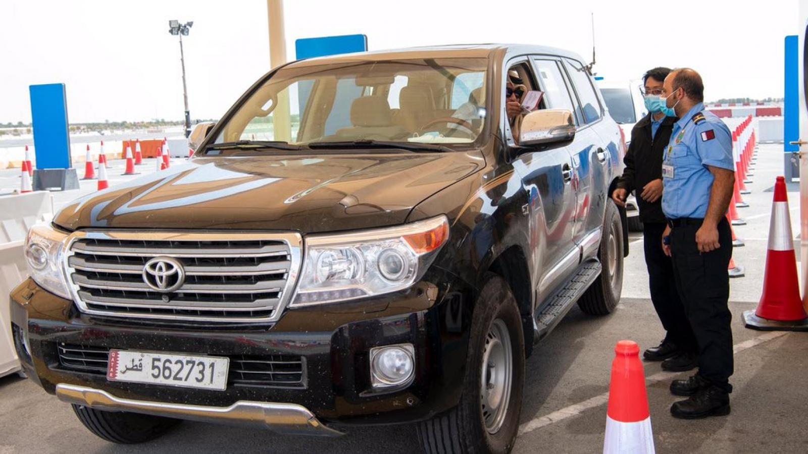COVID-19 drive-through vaccination center opened in Lusail