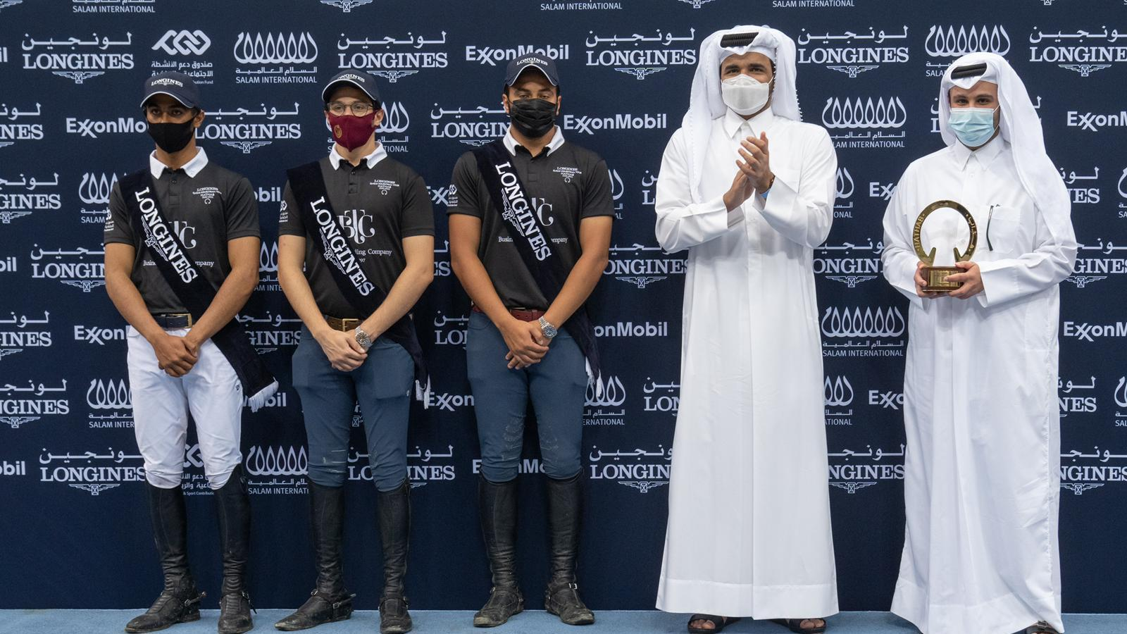 Al Ghazali, Cherif and Al Khaldi crowned season's overall champions of Longines Hathab