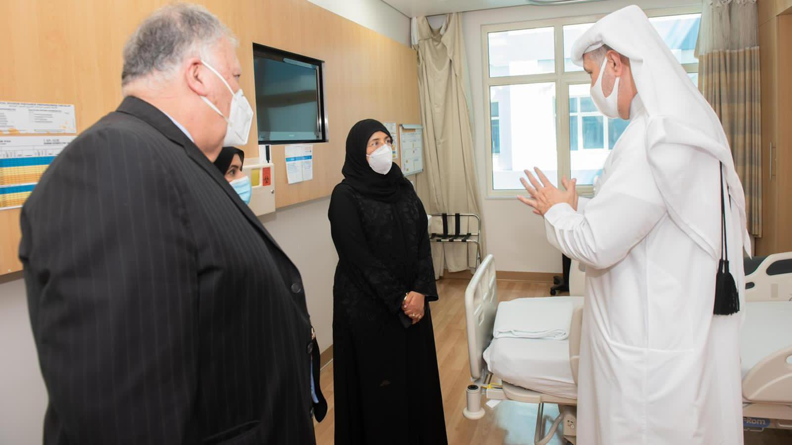 Health Minister visits Al Wakra Hospital following its designation as a COVID-19 facility
