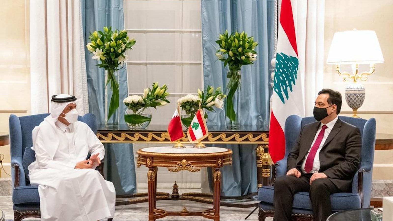 Qatar's FM meets Lebanese Caretaker PM