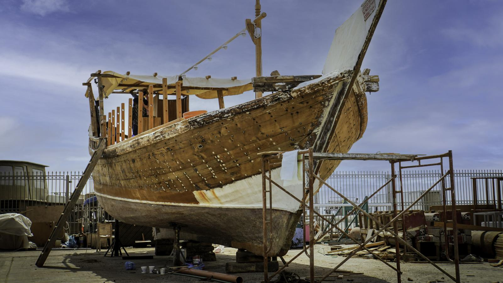 QNTC initiated a large-scale project to refurbish a fleet of over 40 dhow boats