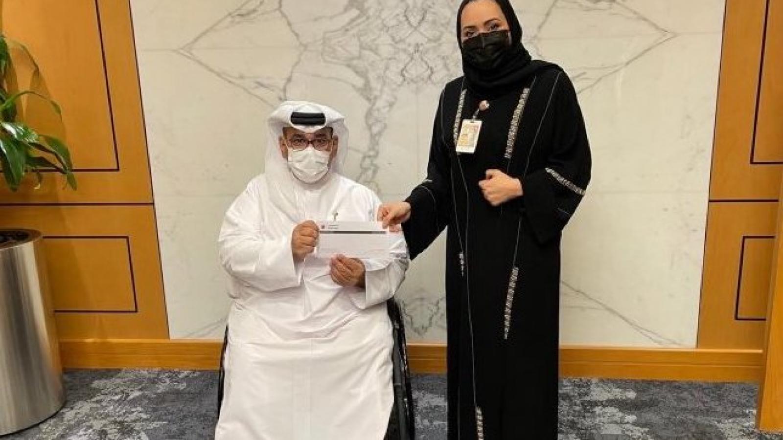 Al Khaliji bank donates to Qatar Society for Rehabilitation of Special Needs