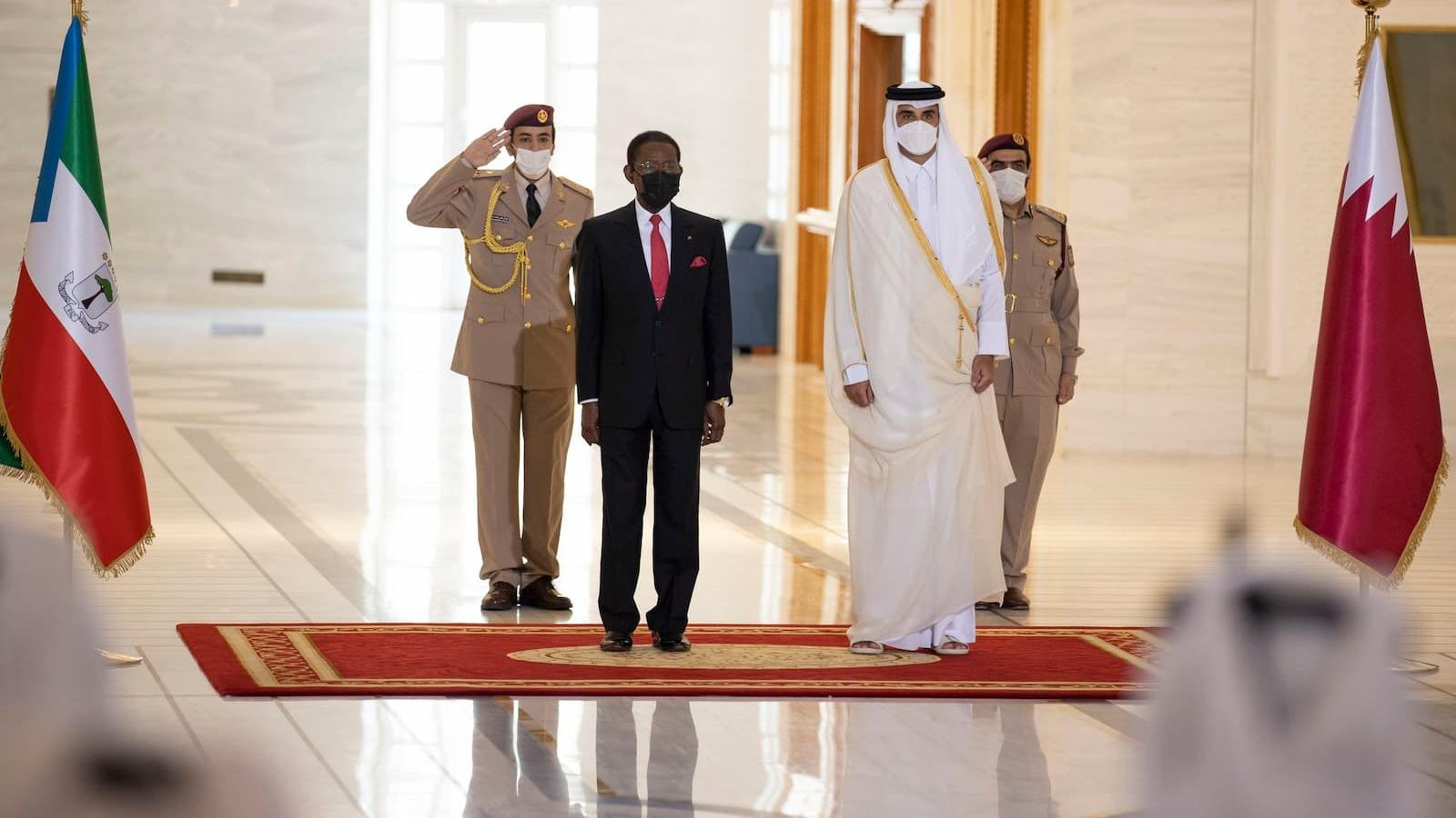 HH the Amir, President of Equatorial Guinea hold talks