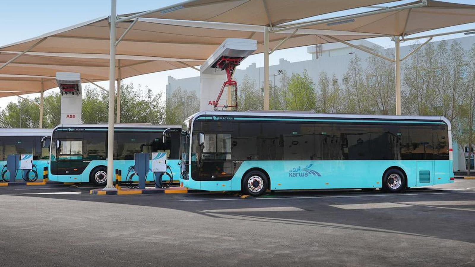 Pilot operation of electric bus charging station at Mowasalat launched