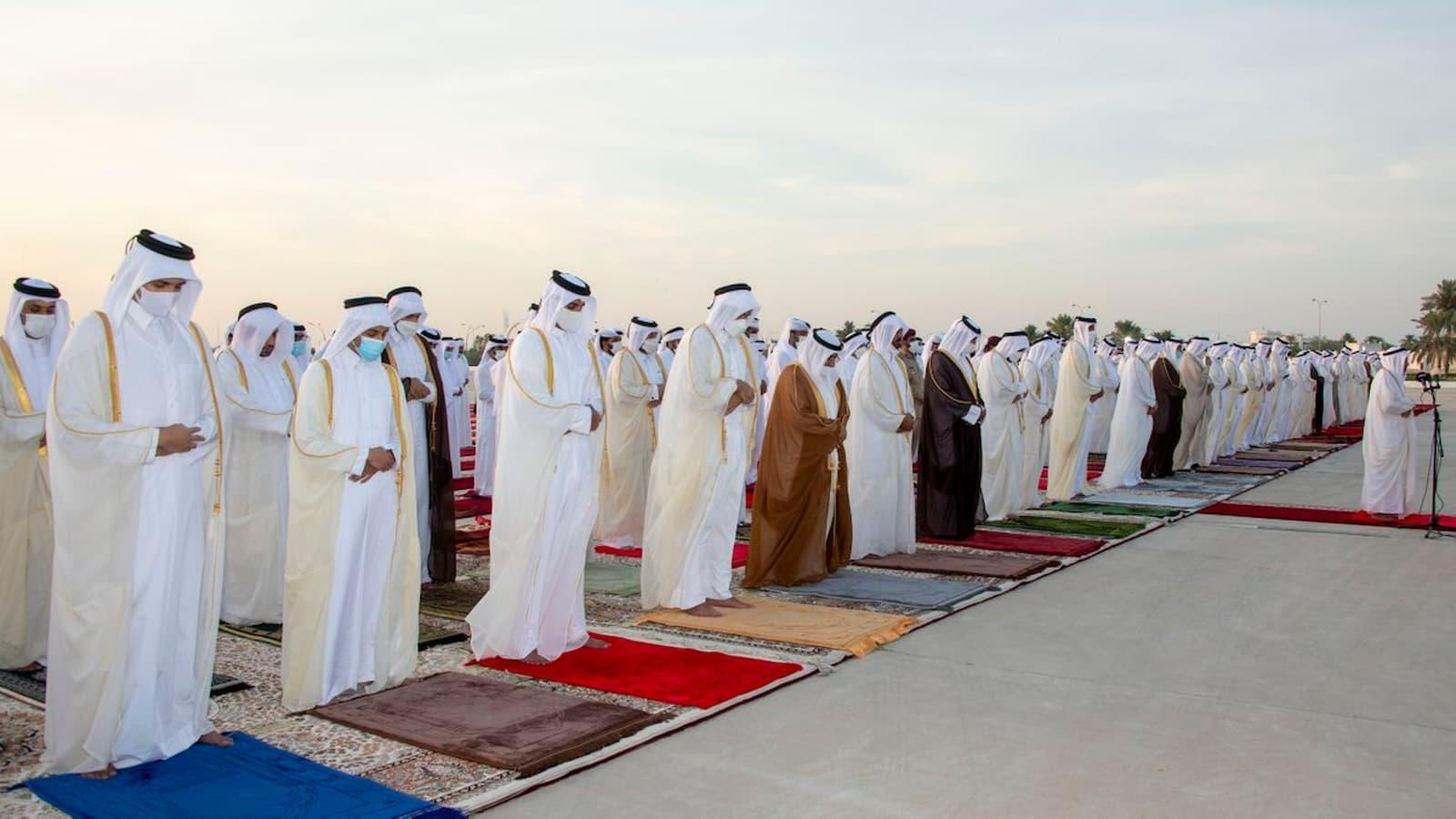 HH the Amir performs Eid Al Adha prayer