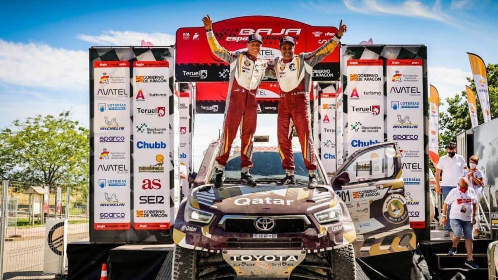 Qatari champion Nasser Saleh Al Attiyah secures victory at Baja Spain Aragon
