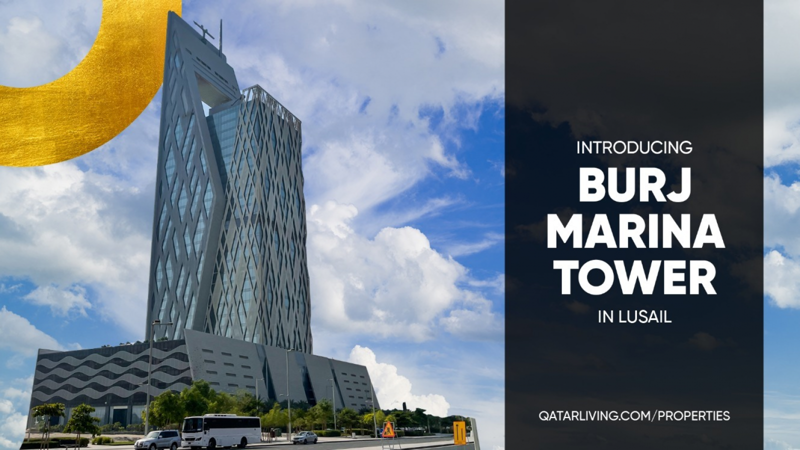Take your office to new heights at Burj Marina Tower in Lusail, Qatar's newest property hotspot.