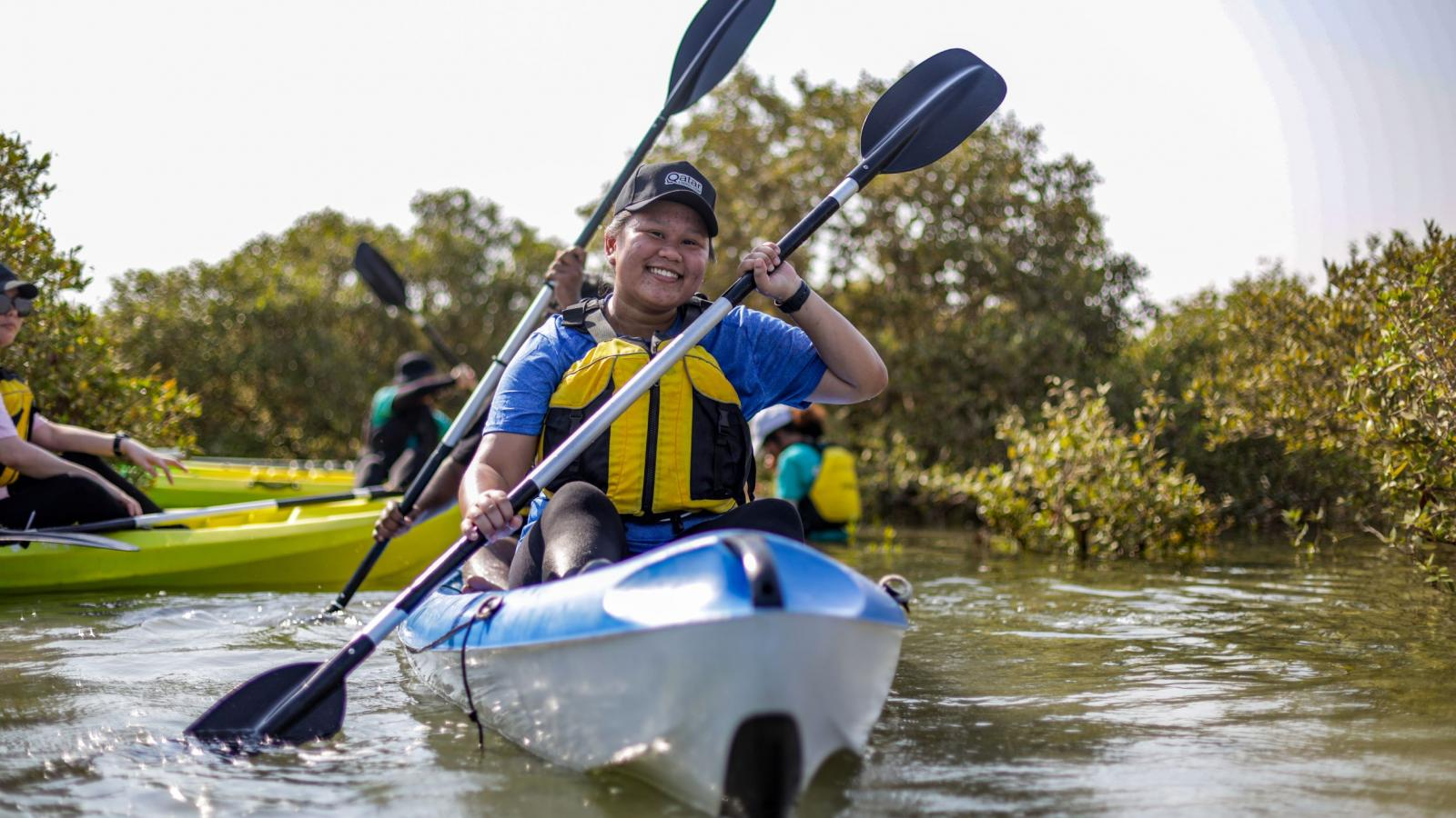 Immerse yourself in Qatar's nature with 365 Adventures' Al Mafjar Mangrove kayaking tour