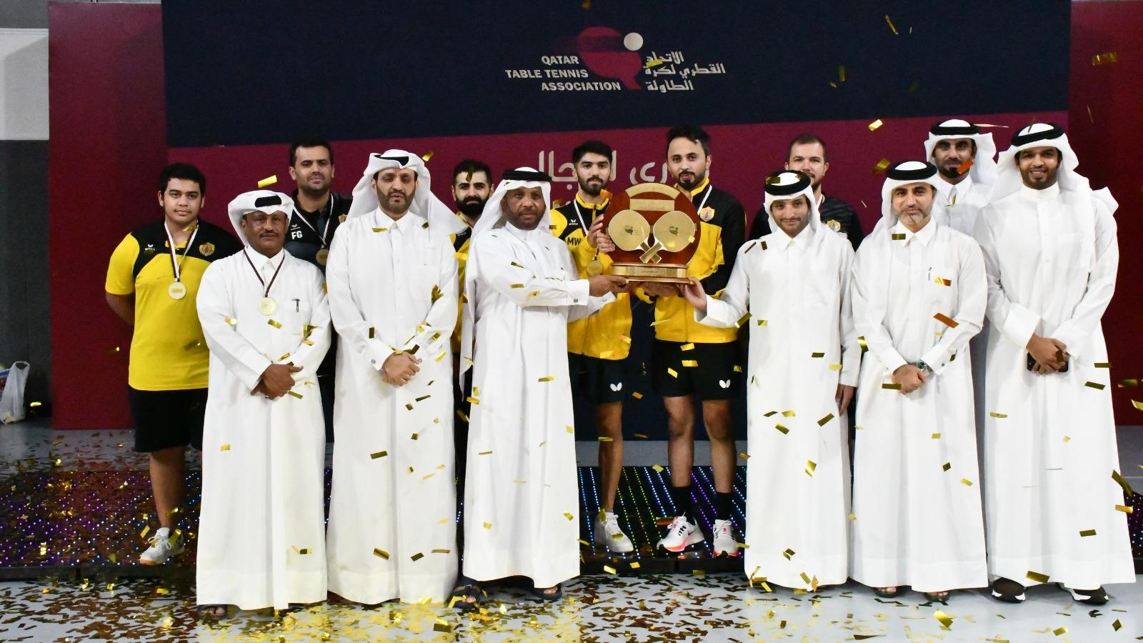Qatar SC crowned table tennis men's league champions for second time in a row