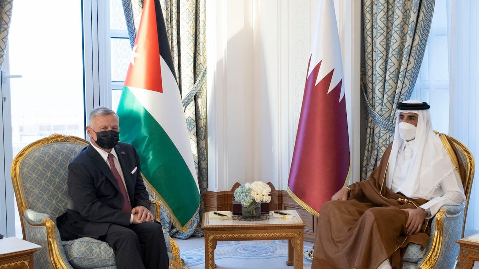 HH the Amir, King of Jordan hold official talks in Doha