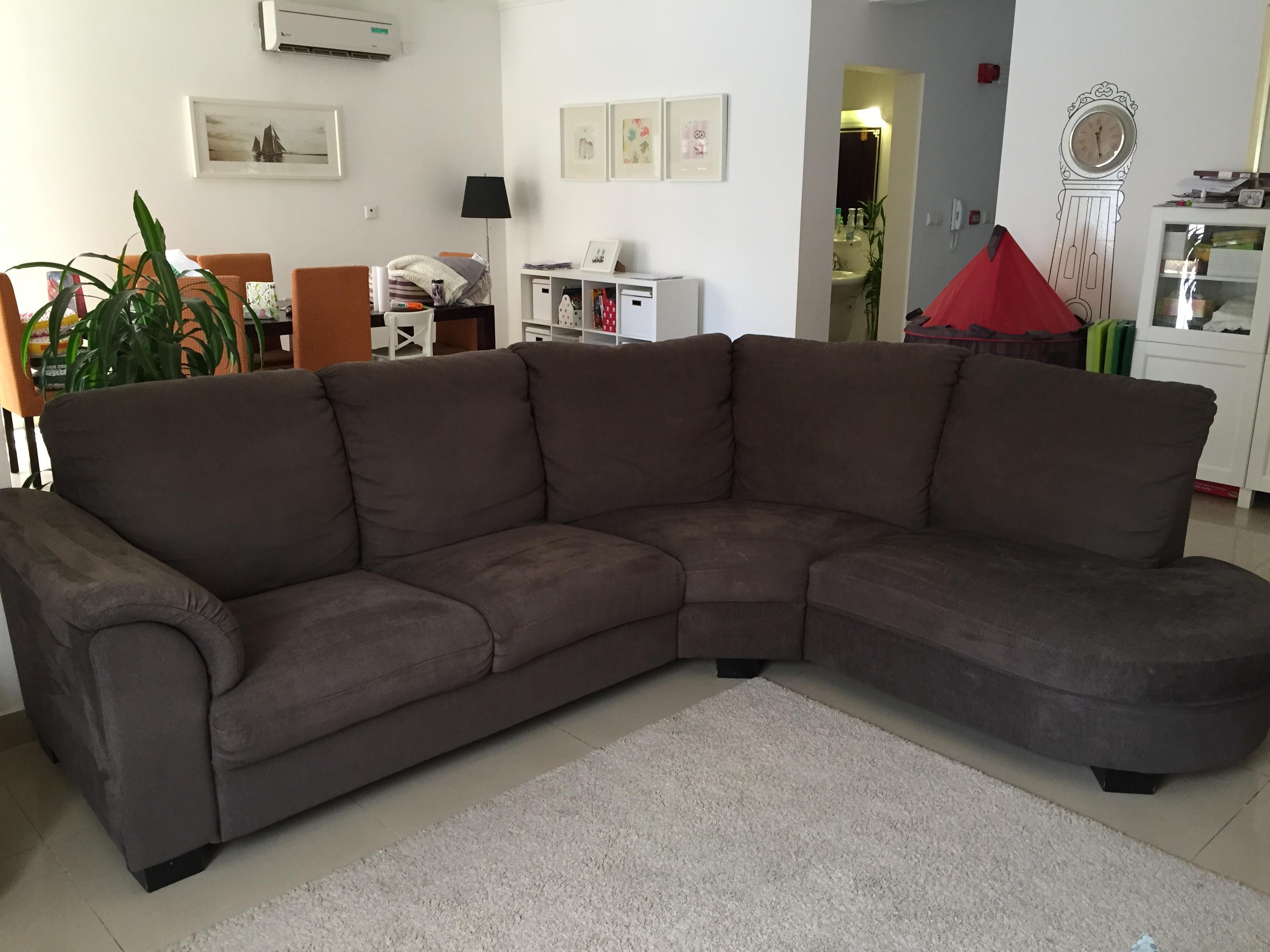 Excellent Condition Ikea TIDAFORS Corner Sofa with Arm Left