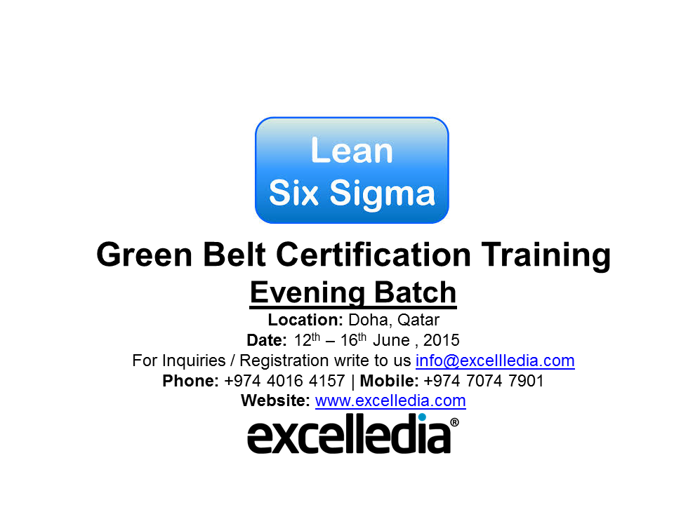 Lean Six Sigma Green Belt Certification Training In Doha Qatar