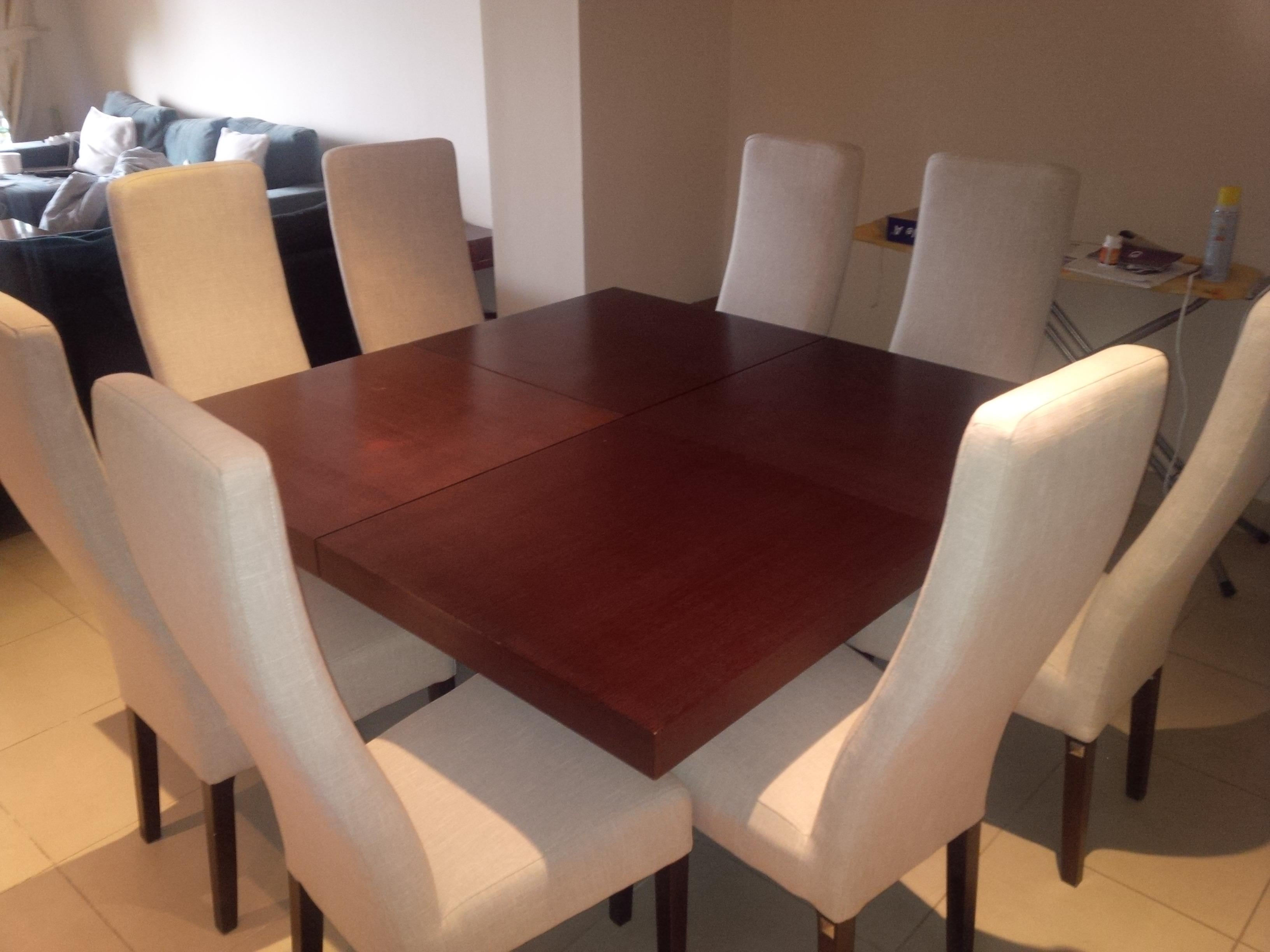 Bo Design Square Dining Table 8 High Back Chairs From The One