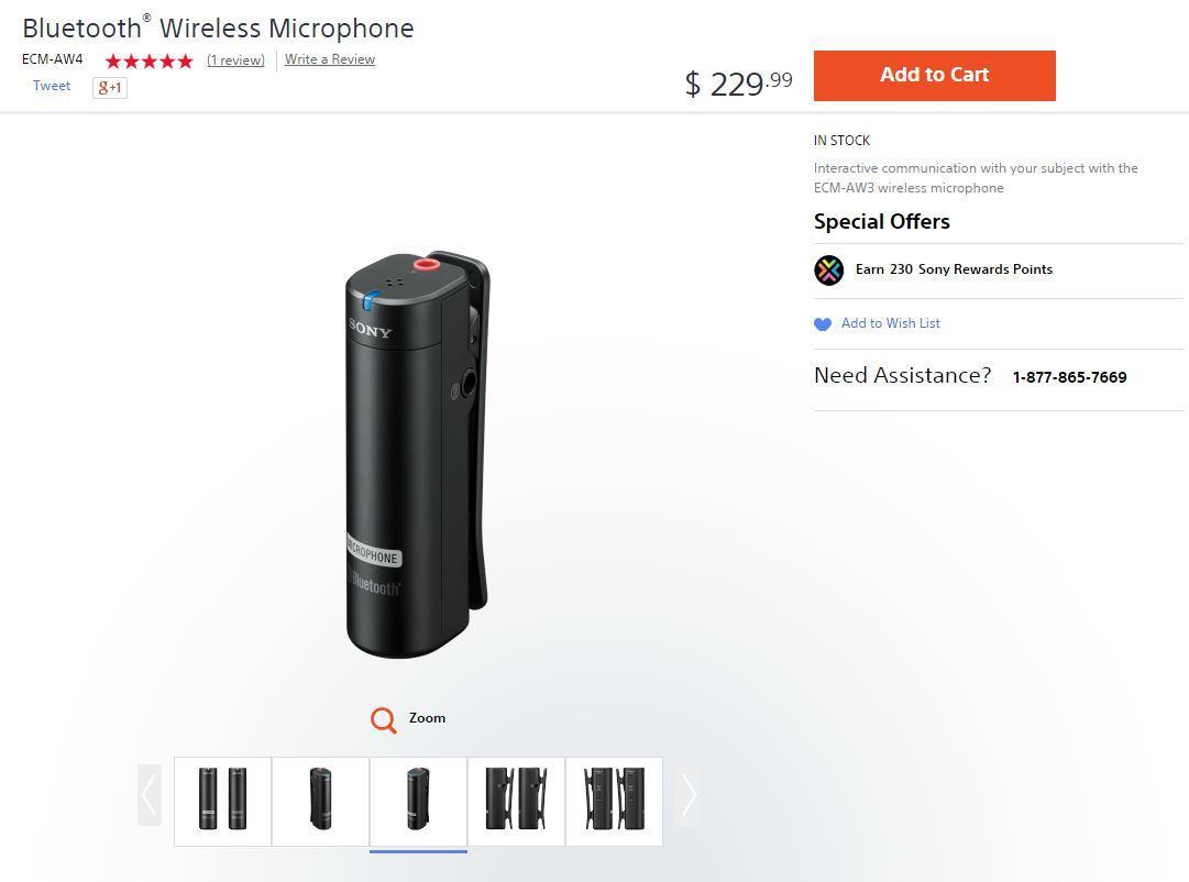 Sony ECM-AW4 Bluetooth Wireless Microphone System | Qatar Living