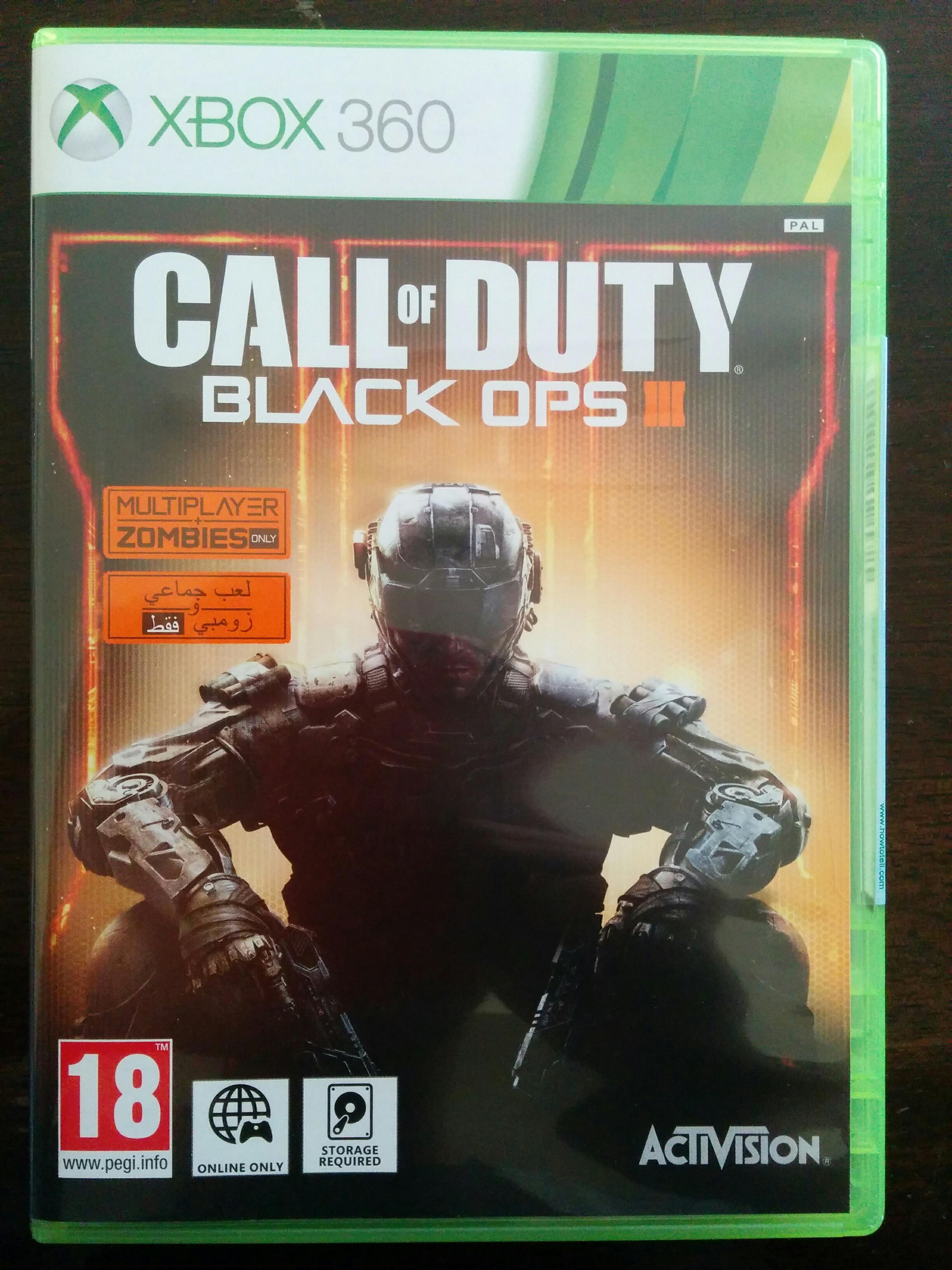 Call of Duty Black ops 3 (Xbox 360 PAL) and ingame COD black